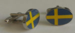 Sweden Country Flag Cufflinks